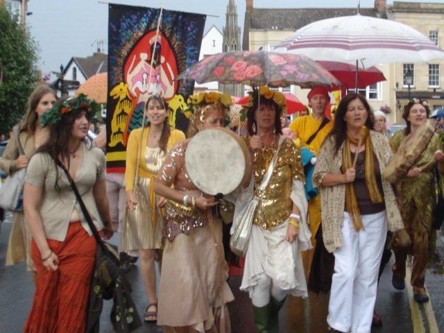 Procession of Goddess devotees